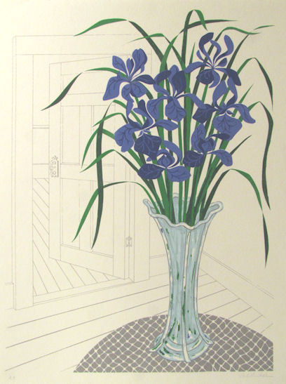 JUDITH SHAHN - Interior with Irises