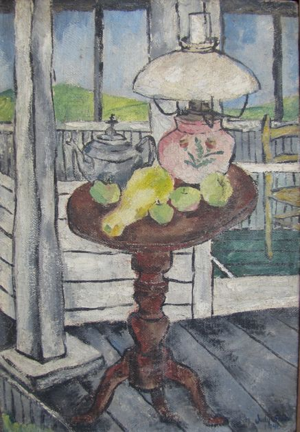 JUDITH SHAHN - Still Life with Table