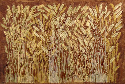 JUDITH SHAHN - Wheat on Bark Paper