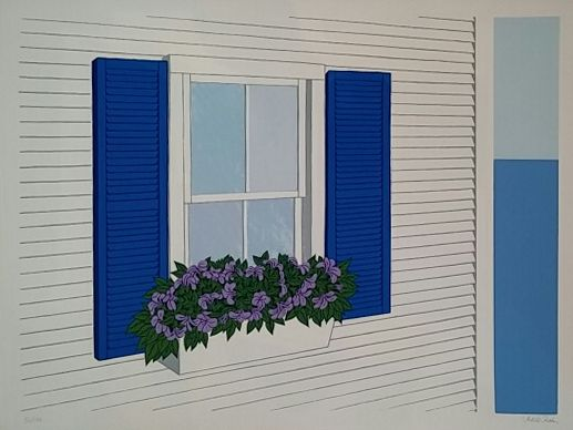JUDITH SHAHN - Window Box with Petunias