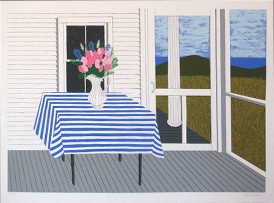 JUDITH SHAHN - Striped Tablecloth