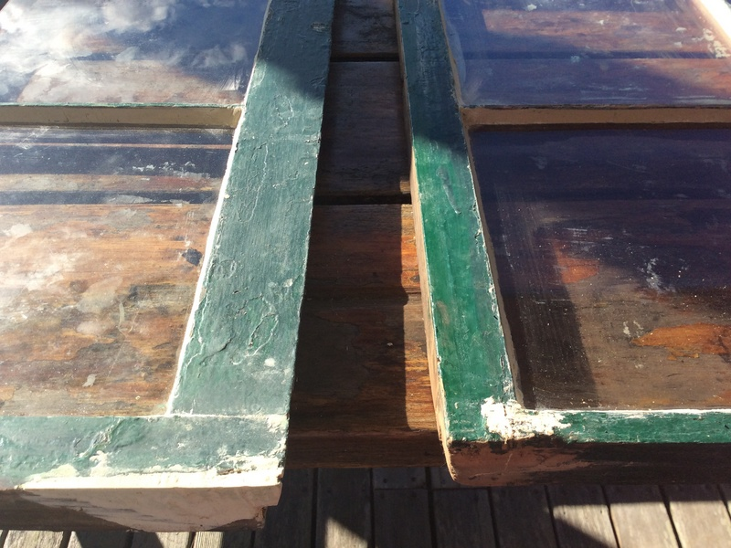 The lower corners are always most damaged by water.   - In these examples, we used Abatron wood epoxy to seal and form new corners that will last for decades.  Once painted, you will never know how infirm they were.