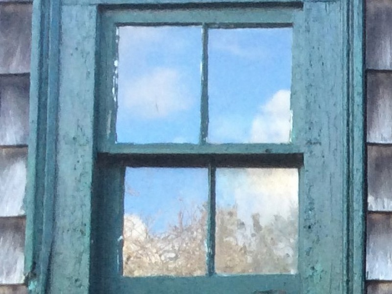 Close up of my favorite little Double Hung window from 1885 -