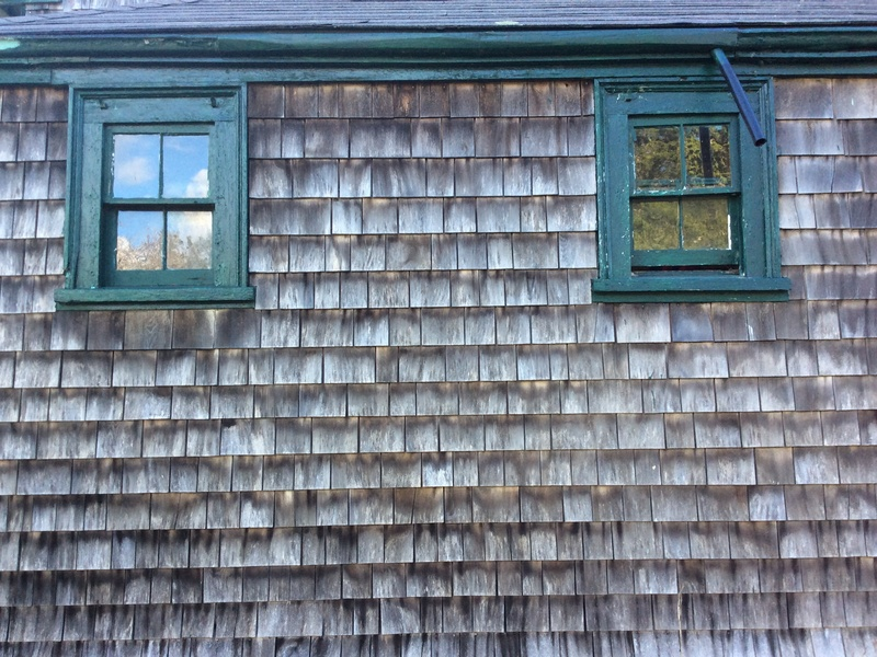 Old Cape Cod windows, west side of the house  -