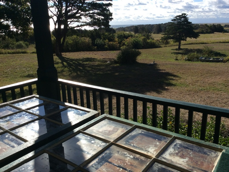 Curing the glazing - like resting with a view! -