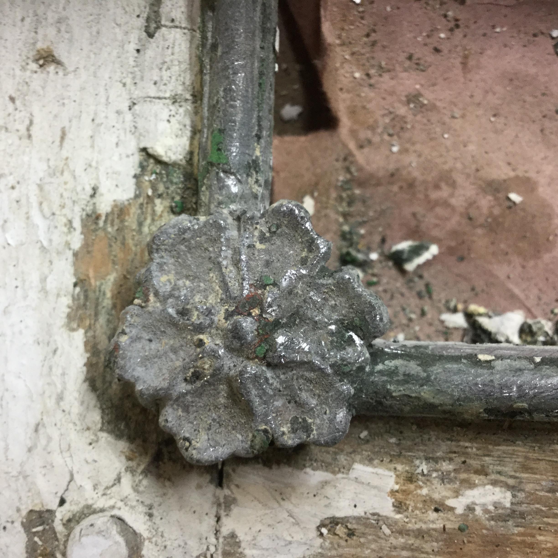 Window Restoration Cape Cod - LIberating the rosettes 1