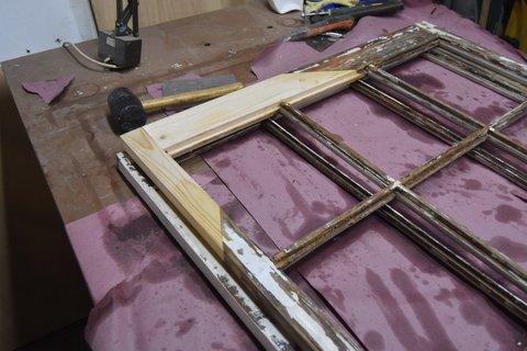 Window Restoration Cape Cod - After corner repair: Dutchman