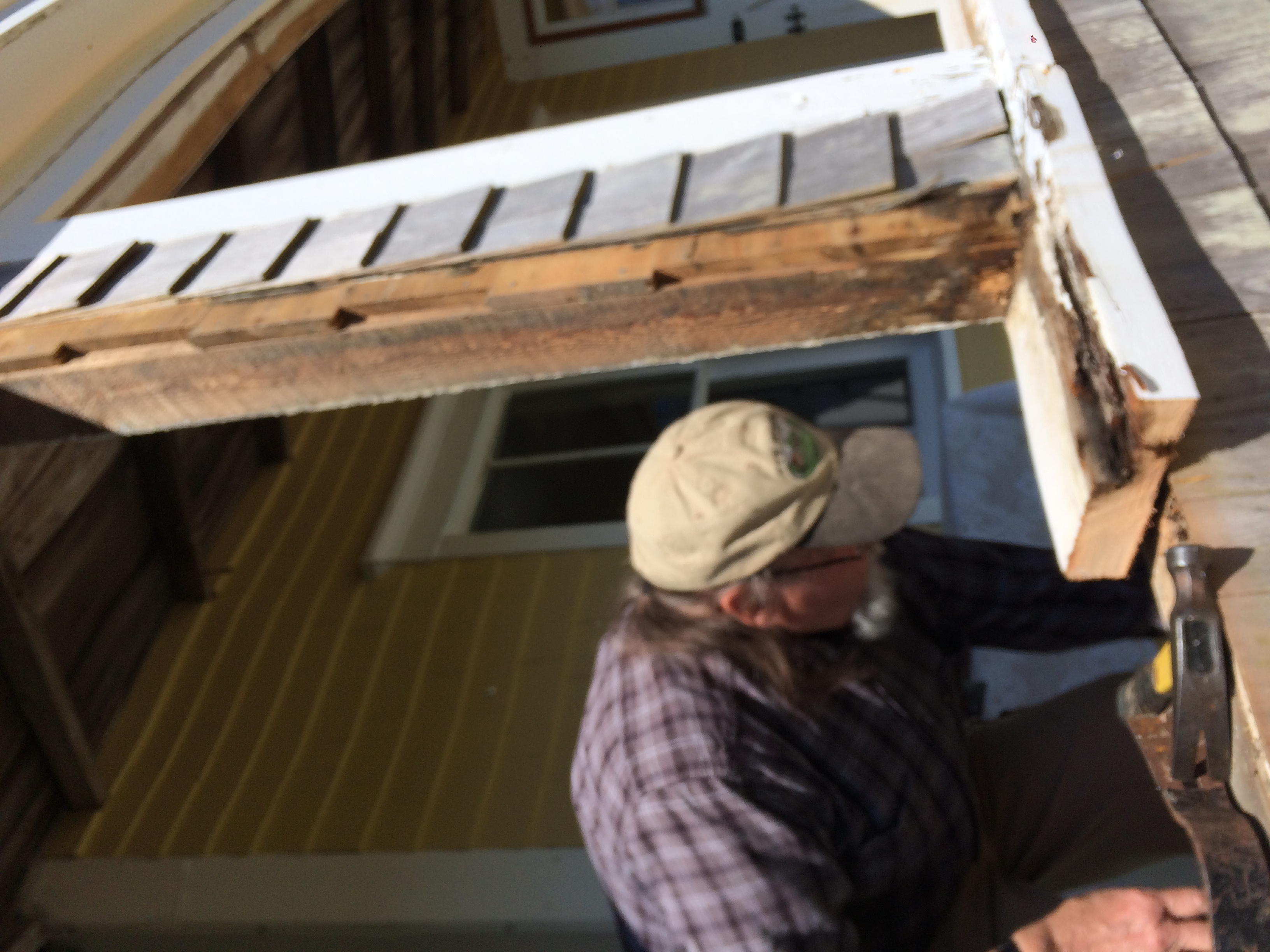 Repairs to the frame and sill -