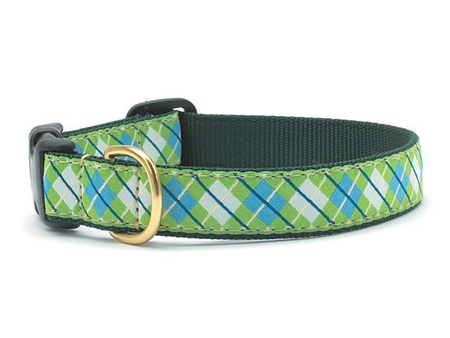 Collars - Blue-Green Argyle Dog Collar