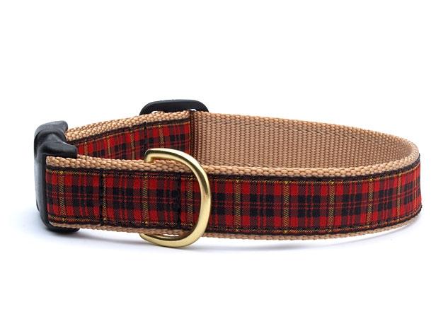 Collars - Red Plaid Dog Collar