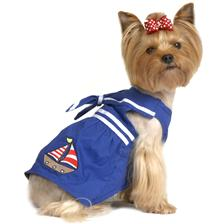 Dog Apparel - Blue Sailboat Doggie Shirt