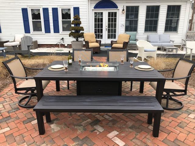 Rectangle Patio Furniture Cover.Fire Tables And Pits Outdoor Furniture Casual Designs Of Cape Cod